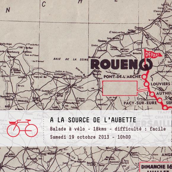 Balade vélo à la source de l'Aubette